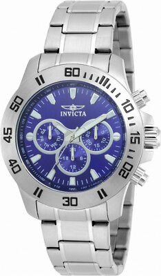 Invicta Specialty 21482 Men's Round Dark Blue Analog Day Date 12 & 24 Hr Watch • 0.72£