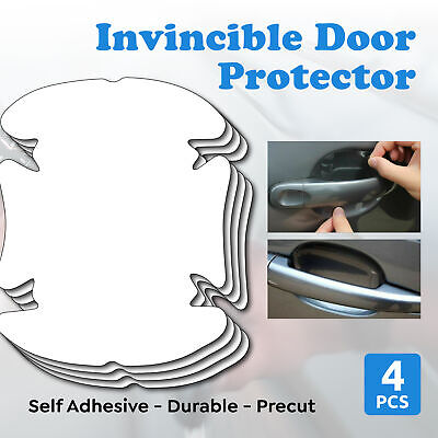 AU4.69 • Buy 4pc Invisible Car Door Handle Films Protective Scratches Protector Accessories