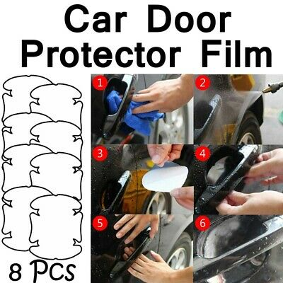 AU5.89 • Buy 8pc Invisible Car Door Handle Films Protective Scratches Protector Accessories