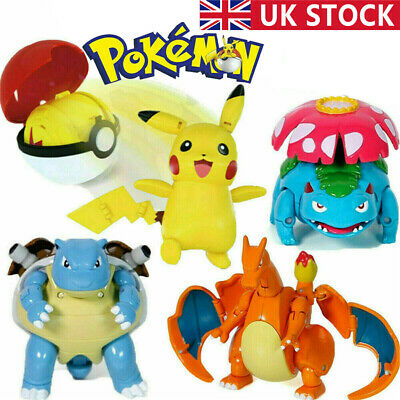 For Pokeball Ball Transformation Toy Kids Action Figure Suit Deformation Gifts • 4.39£