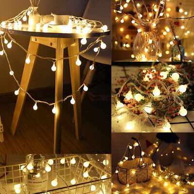 LED Globe Bulb Ball Fairy String Lights Battery Power Garden Outdoor Indoor AU • 6.69£