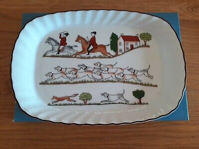 £21 • Buy Wedgwood 'Hunting Scene' Oblong Dish 8.25 Inches Mint Condition With Box