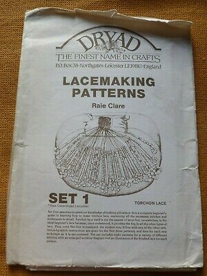 DRYAD LACEMAKING PATTERNS Set 1 – TORCHON - Compiled By RAIE CLARE, 1980 • 7.99£