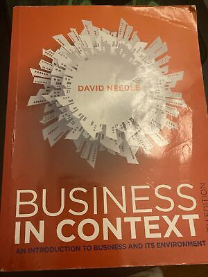 Business In Context Sixth Edition • 22£