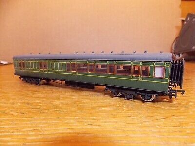 KIT BUILT Ex-LSWR CORRIDOR ALL 3rd BRAKE COACH No 7890 SR Green Livery 00 Gauge. • 45£