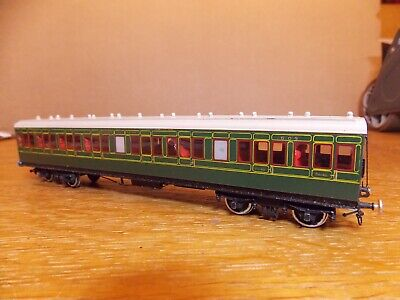 KIT BUILT Ex-LSWR NON CORRIDOR ALL 3rd COACH No 603 SR Green Livery 00 Gauge. • 45£