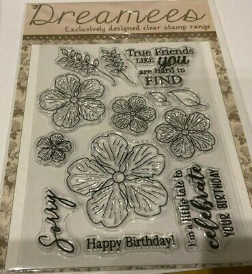 DREAMES ~Exclusively Designed Clear Stamp Range~ HAPPY BIRTHDAY~12 STAMPS~NEW  • 9.50£