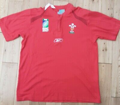 £12 • Buy Wales Reebok Rugby World Cup Shirt 2007 Size Large.Short Sleeve.