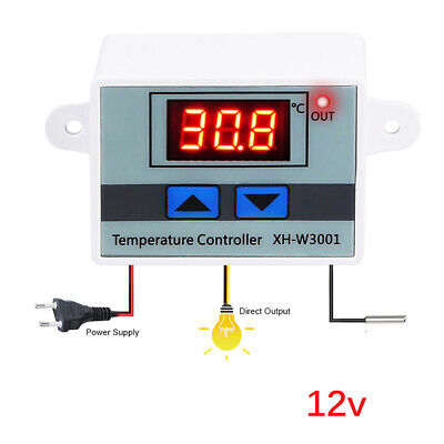 AU11.99 • Buy Digital LED Temperature Controller Thermostat Control Switch W/ Probe Waterproof