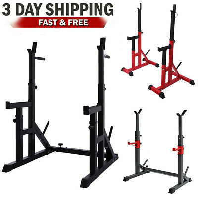 $ CDN112.90 • Buy Adjustable Squat Rack Power Weight Rack Lifting Barbell Stand Holder Gym Home