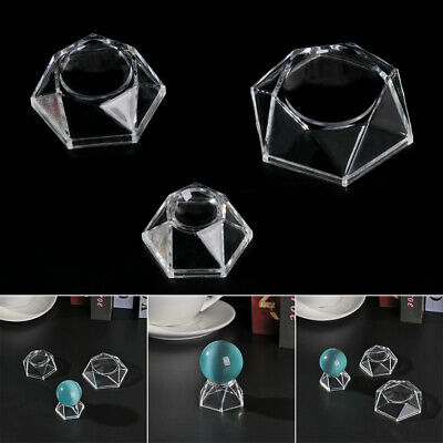 Desktop Ornament Acrylic Display Stand Crystal Ball Base Quartz Sphere Holder • 2.95£