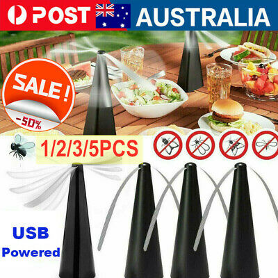 AU19.99 • Buy 1/3/5X Automatic Fly Trap Fly Repellent Fan Keep Flies Bugs Food From Away Fruit
