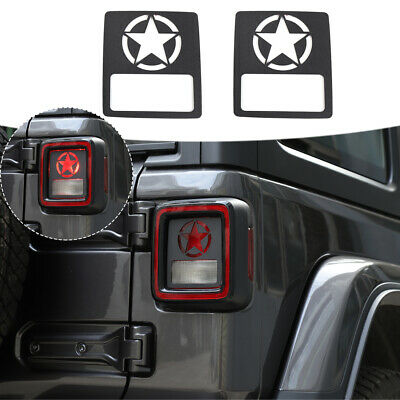 $17.84 • Buy Tail Light Lamp Decor Cover Guards For Jeep Wrangler JL 2018+ Accessories Black