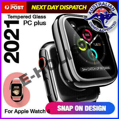 AU12.95 • Buy For Apple Watch Series 4 5 6 SE 40 44 Mm IWatch PC+Glass Screen Protector Case