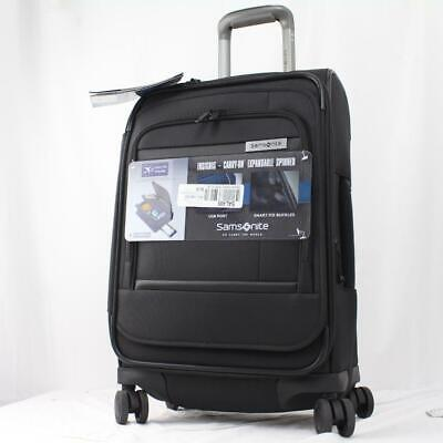 """View Details SAMSONITE INSIGNIS 21"""" EXPANDABLE SPINNER CARRY ON SUITCASE BLACK • 119.14$"""
