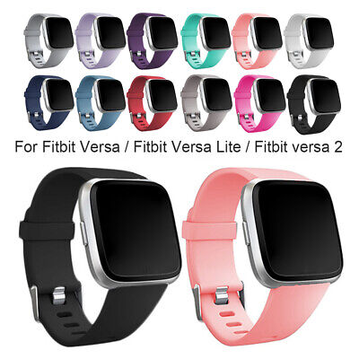 $ CDN3.35 • Buy Durable Replacement Rubber Band Strap Wristband For Fitbit Versa 1 2 Lite Watch