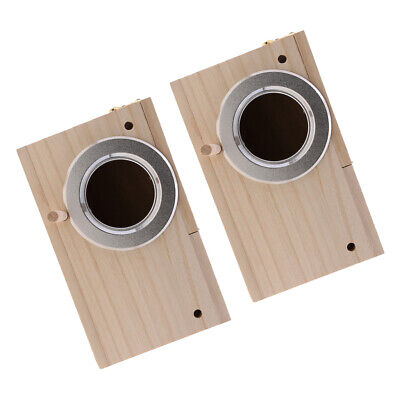 2xWooden Budgie Nest Nesting Box Perch For Cage Aviary With Opening Top, S+M • 14.88£
