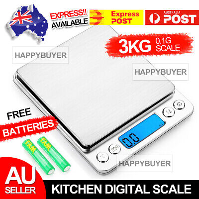 AU11.95 • Buy 3kg/0.1g Kitchen Digital Scale LCD Electronic Balance Food Weight Postal Scales