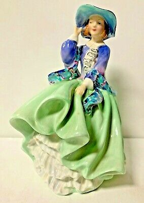 $ CDN57.11 • Buy Vintage Royal Doulton Bone China Top 0' The Hill Made In England Lady Figure