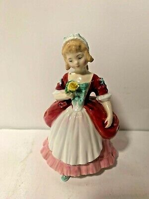 $ CDN25.35 • Buy Vintage Royal Doulton Bone China Valerie Made In England Lady Figure