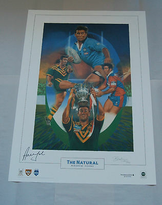 AU99 • Buy Andrew Johns Hand Signed The Natural Limited Edition Print Newcastle Knights