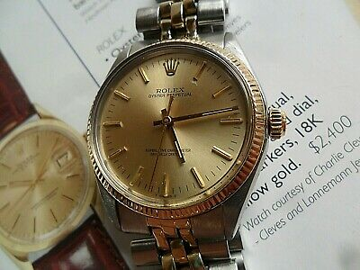 $ CDN749.65 • Buy 14k Gold & S/S 1977 Vintage Men's Rolex Oyster Perpetual Ref. 1005 Swiss Watch