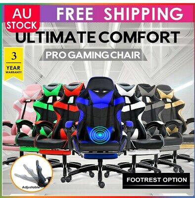 AU148.99 • Buy Gaming Office Chair Computer Executive Chairs Seating Footrest Racer All Color