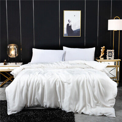 £34.96 • Buy 100% Mulberry Silk Duvet Cover 230x250cm Solid Color Queen Size Bed Cover New