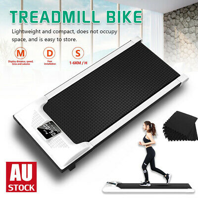 AU280.99 • Buy Electric Walking Pad Treadmill LCD Display Exercise Machine Remote Control / Mat