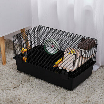 Large Hamster Cage Mice Mouse Ramp Wheel Water Bottle Dwarf Syrian Gerbil Cage • 32.95£