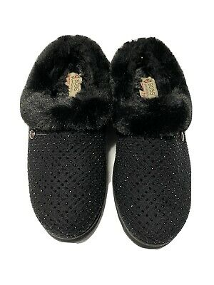 BOBS From Skechers Women's Keepsakes Ice Angel Slipper | SZ: 7 | CLR: BLK | NEW! • 27.50£