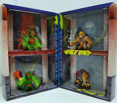 $75 • Buy Masters Of The Universe MOTU Eternia Minis Slime Pit 4 Pack Heman Zodak Teela