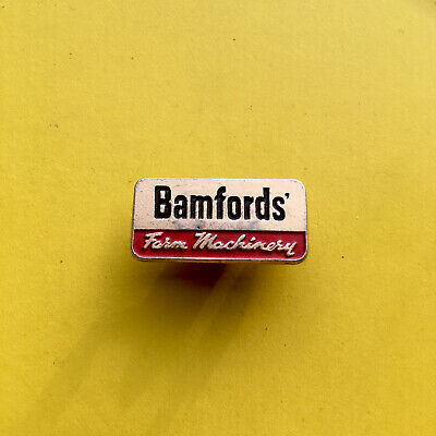 Vintage Advertising Bamfords Farm Machinery Badge JCB Interest Agriculture • 9.95£