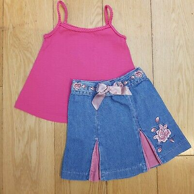 Toddler Girls Bundle Outfit Skirt Top Size 18-36 Months  • 1.49£
