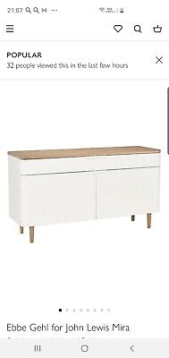 £549 • Buy Ebbe Gehl For John Lewis Mira Sideboard, White/Oak New Free Delivery
