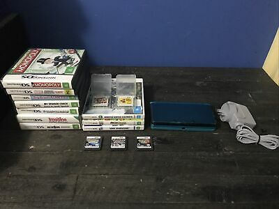 AU50 • Buy 3DS|METALLIC BLUE|MINT|COMPLETE-15 Games-Pokémon