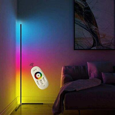 £40.99 • Buy Colour Changing RGB Mood Lighting Metal LED Corner Floor Wall Lamp With Remote