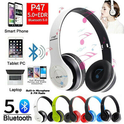 £8.59 • Buy Folding Wireless Bluetooth Headphones Noise Cancelling Over Ear Headset With Mic
