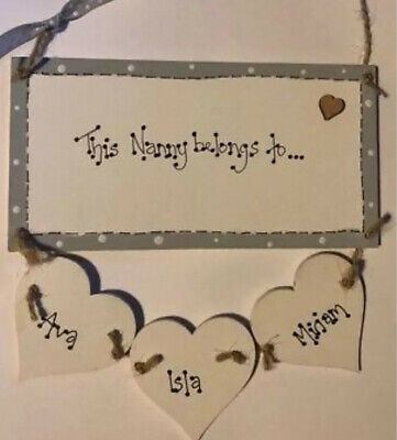 £7 • Buy Personalised This Nanny Belongs Too Nan Gran Wooden Plaque Birthday Sign Gift