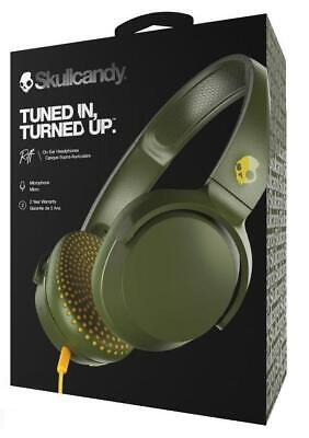 $ CDN43.37 • Buy Skullcandy Riff Olive Yellow Wired On Ear Headphones With Microphone