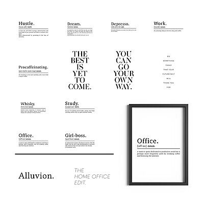 £3.99 • Buy Home Office Prints Decor Motivational Wall Art Inspirational Quotes Print Poster