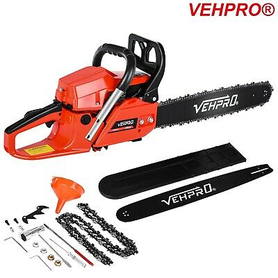 Heavy Duty 20  58cc Chainsaw Wood Cutting Tool Kits Two Stroke Petrol Engine • 76.98£