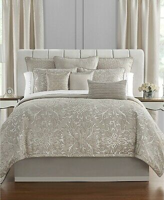 $ CDN182.30 • Buy 4PC Waterford Arianna QUEEN Comforter Pillow Shams Bedskirt Set Champagne NEW
