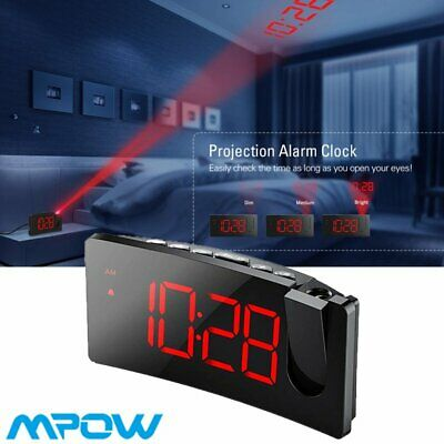 AU43.29 • Buy Digital LED Projection Alarm Clock LCD Radio Projector USB Charging Snooze FM