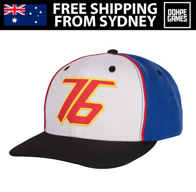 AU19.95 • Buy Overwatch Soldier 76 Snapback Cap Hat One Size White/Blue
