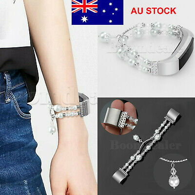 AU5.33 • Buy Jewelry Flower Stainless Steel Bracelet Wristband Band Strap For Fitbit Charge 2