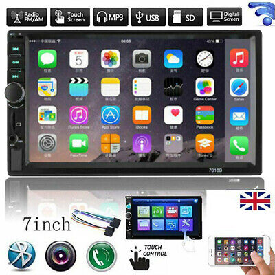 £46.98 • Buy 7  Inch Double 2 DIN Bluetooth Car Radio Stereo FM AUX MP5 Player Touch Screen