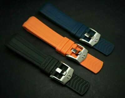 20mm/22mm Rubber Strap Blue/black/orange For Omega Seamaster 300 Watches • 28.99£