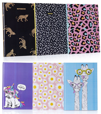 £3.75 • Buy A4 Student Fashion Notebook Hardback Journal Pad 200 Ruled Pages Note Book Style