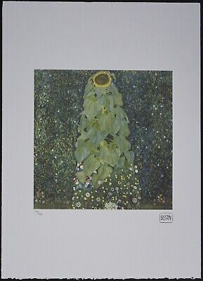 $ CDN148.51 • Buy Gustav Klimt 'The Sunflower' 50 X 70 Cm Signed Limited Lithograph